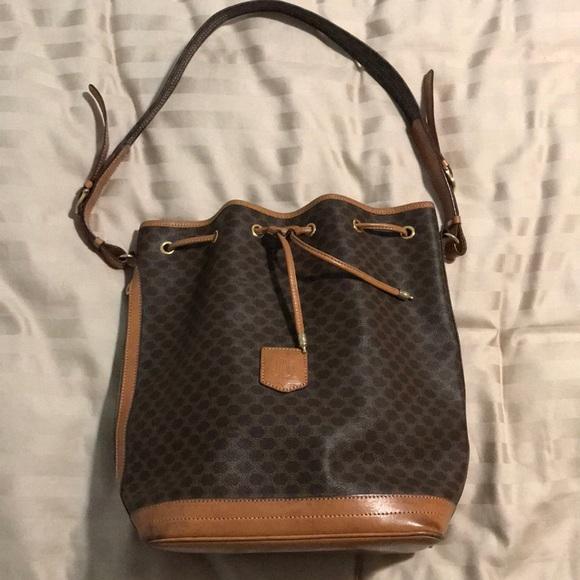 13453145c7 Celine Handbags - Vintage Celine Drawstring Bucket Bag